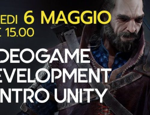 6 Maggio workshop video game development and intro unity